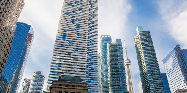 Condos along Toronto's waterfront. The city clocked a 16.8-per-cent year-over-year rise in home sales in April.