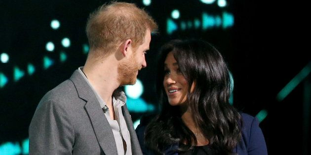 The Duke of Sussex and the Duchess of Sussex during his visit to WE Day UK at the SSE Arena in Wembley,