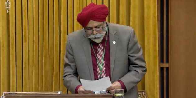 Calgary Skyview MP Darshan Kang speaks in the House of Commons on May 6,