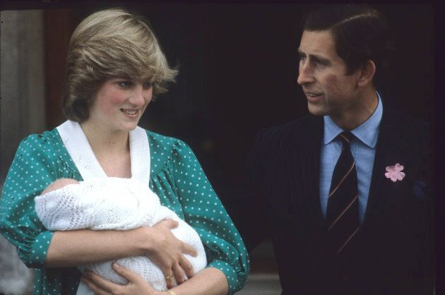 Prince Charles, Prince of Wales and Diana, Princess of Wales leave the Lindo Wing St Mary's Hospital...