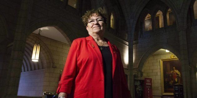 Senator Yvonne Boyer poses for a photo in the foyer of the Senate on Parliament Hill in Ottawa on Oct....