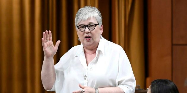 Minister of Rural Economic Development Bernadette Jordan rises during question period in the House of...