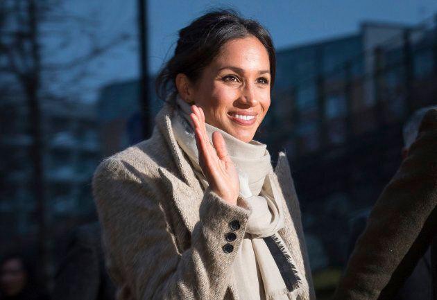 Meghan Markle rocks a Smythe jacket in London on Jan. 9, 2018.