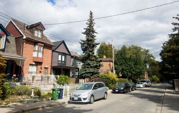 A general view of Yarmouth Road in Toronto close to where Meghan Markle lived.