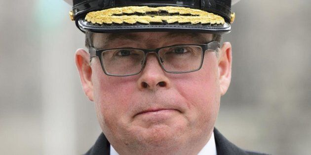 Vice-Admiral Mark Norman arrives to court in Ottawa on March 28,