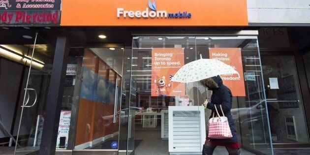 A Freedom Mobile location in Toronto, Thurs. Nov. 24,