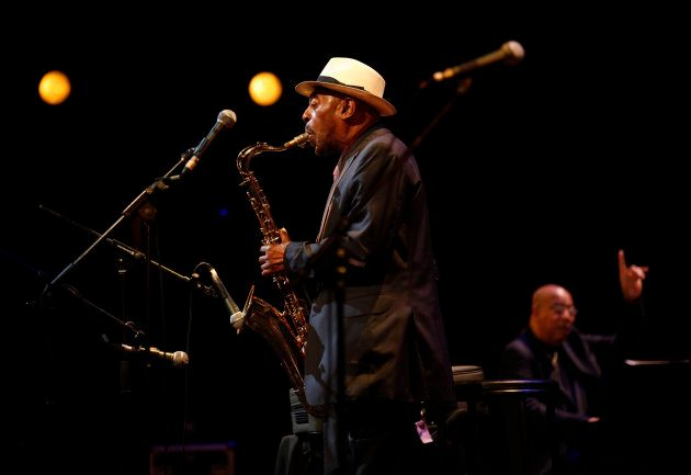 Saxophone player Archie Shepp performing at Grande Halle de La Villette in Paris on September 7,