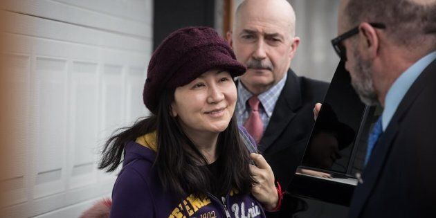 Huawei chief financial officer Meng Wanzhou, who is out on bail and remains under partial house arrest...