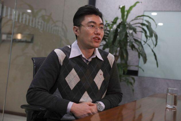 Zhang Dongshuo, lawyer for Robert Lloyd Schellenberg, speaks during an interview in Beijing on Jan. 15,