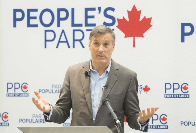 Maxime Bernier left the Conservative party and founded the populist People's Party of
