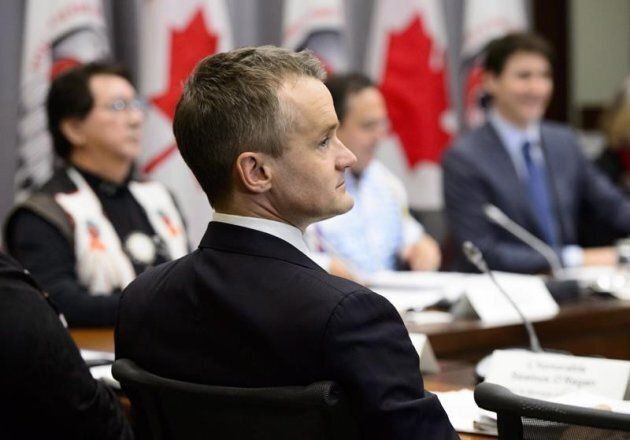 Minister of Indigenous Services Seamus O'Regan takes part in a meeting with Assembly of First Nations...