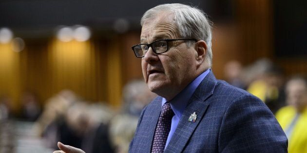 Veterans Affairs Minister Lawrence MacAulay answers a question in the House of Common on May 10,
