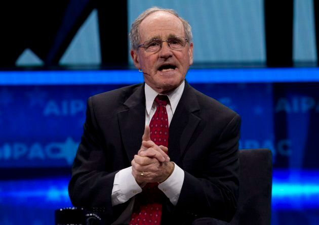 Sen. Jim Risch of Idaho speaks at the 2019 American Israel Public Affairs Committee (AIPAC) policy conference...