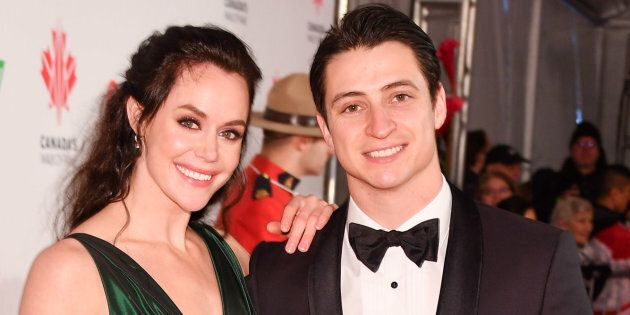 Tessa Virtue and Scott Moir attend 2018 Canada's Walk Of Fame Awards held at Sony Centre for the Performing Arts on Dec. 1, 2018 in Toronto, Canada.