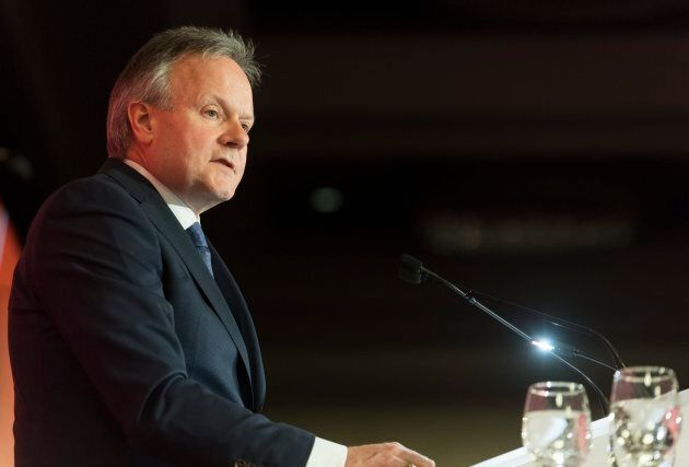 Bank of Canada Governor Stephen Poloz speaks during a business luncheon in Montreal, Thurs. Feb. 21.