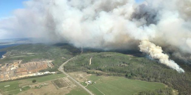 An out-of-control wildfire in central British Columbia has prompted a local state of emergency and several