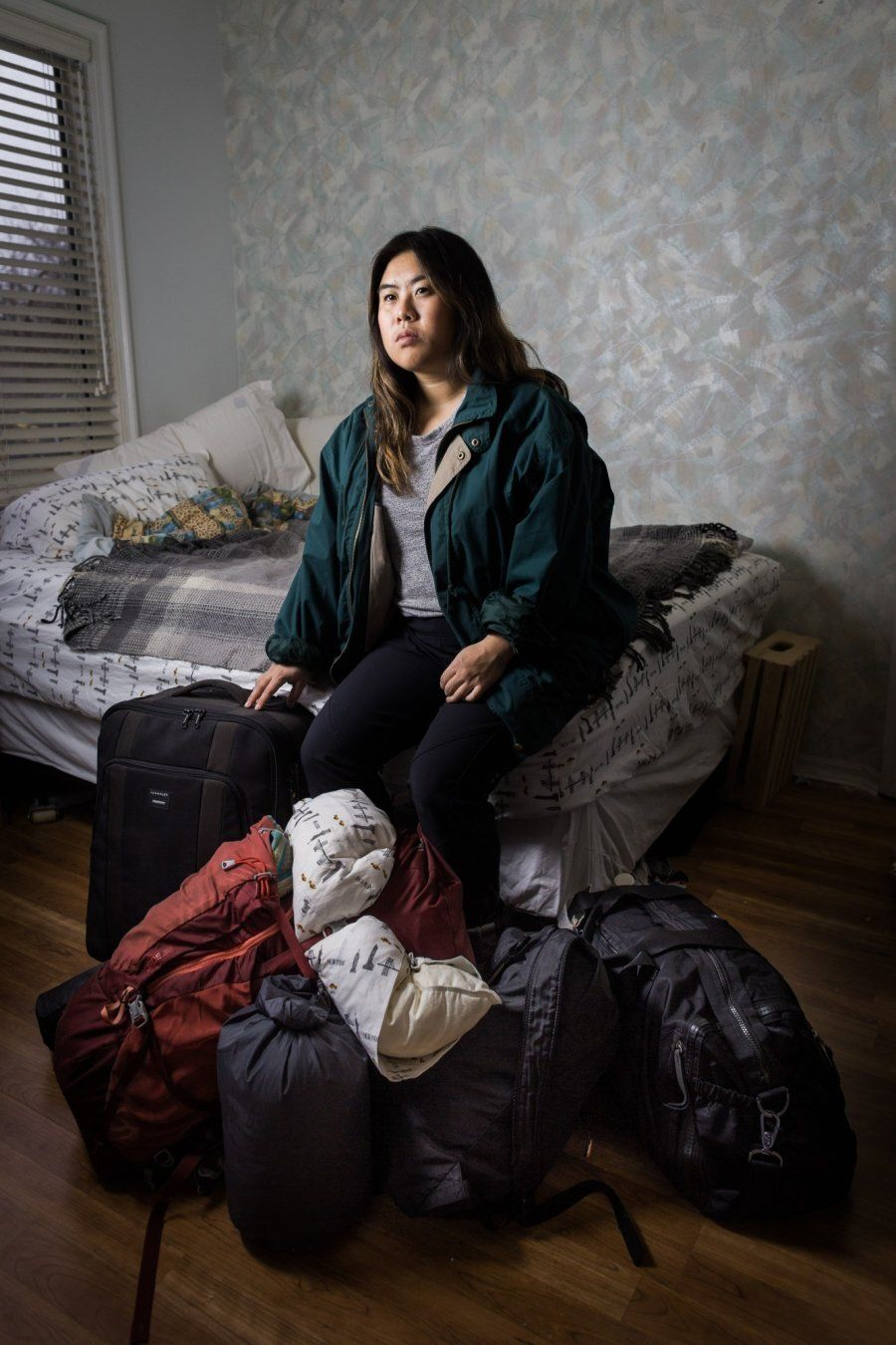 Kayla Isomura's own portrait for her Suitcase Project.