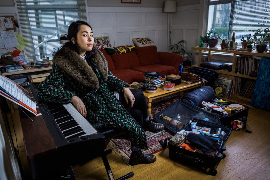 A portrait of Laura Fukumoto for the Suitcase Project.
