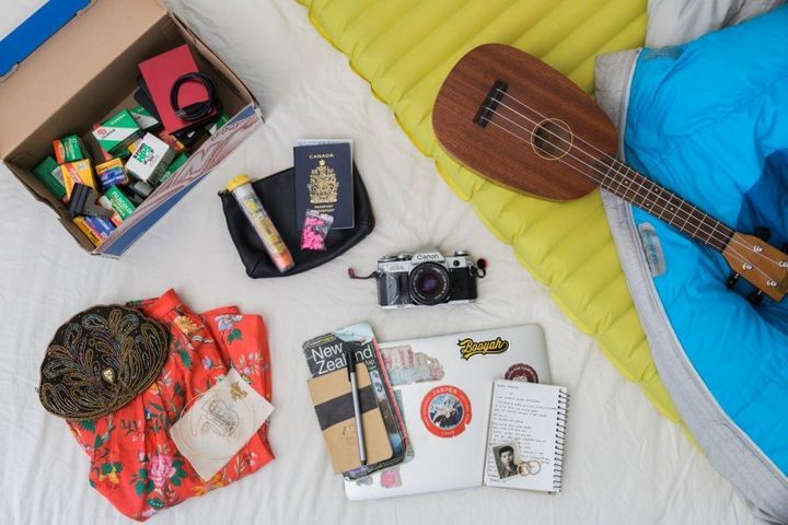 Some of the belongings Kayla Isomura chose to pack for her Suitcase Project.