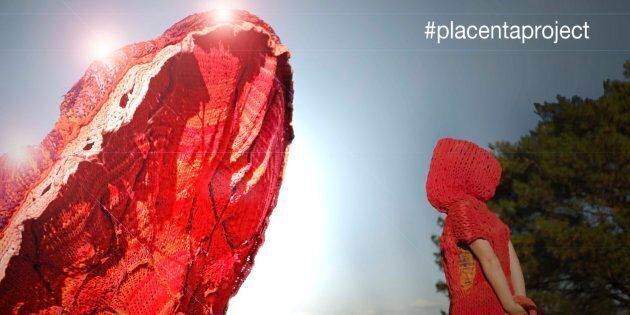 Community artist Bec Vandyk spearheaded the #placentaproject.