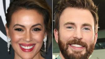 Alyssa Milano, Chris Evans