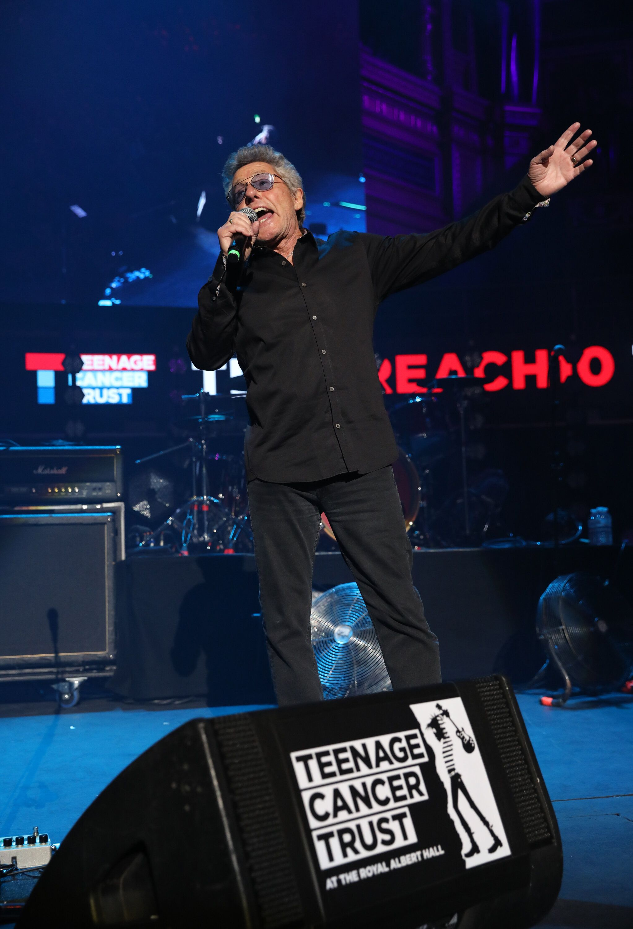 TCT's Honorary Patron Roger Daltrey CBE presents Doves during the Teenage Cancer Trust Concert, Royal Albert Hall, London. (Photo by Isabel Infantes/PA Images via Getty Images)