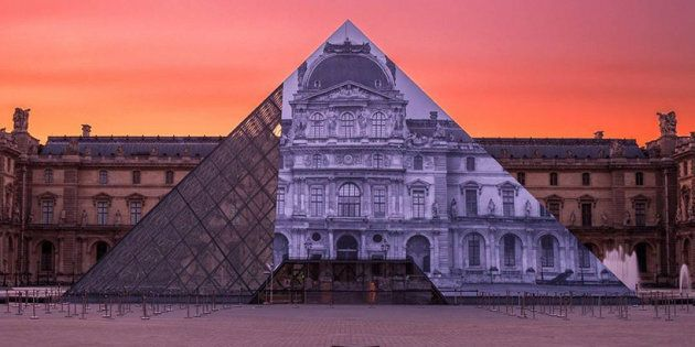 A French Street Artist Made The Louvre's Iconic Pyramid