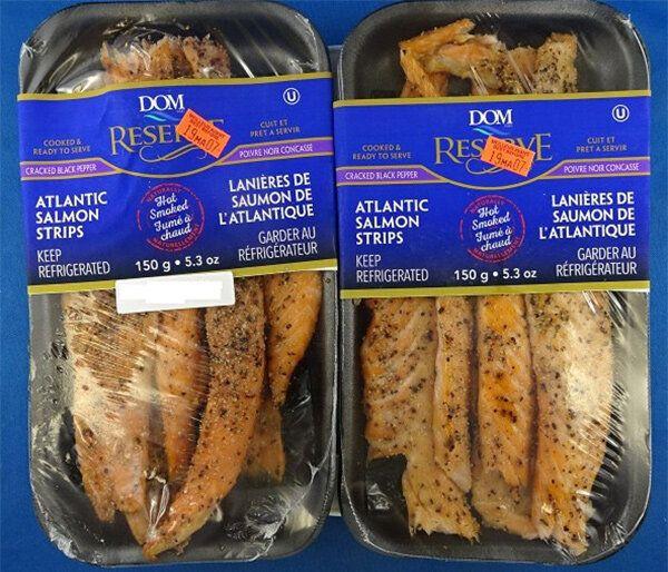 Rappel de lanières de saumon de la marque Dom