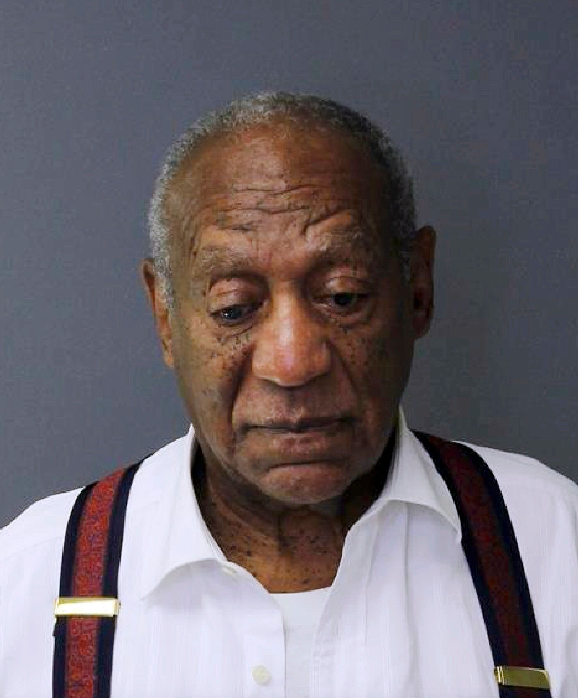 This image provided by the Montgomery County Correctional Facility shows Bill Cosby on Tuesday, Sept. 25, 2018, after he was sentenced to three-to 10-years for sexual assault. (Montgomery County Correctional Facility via AP)