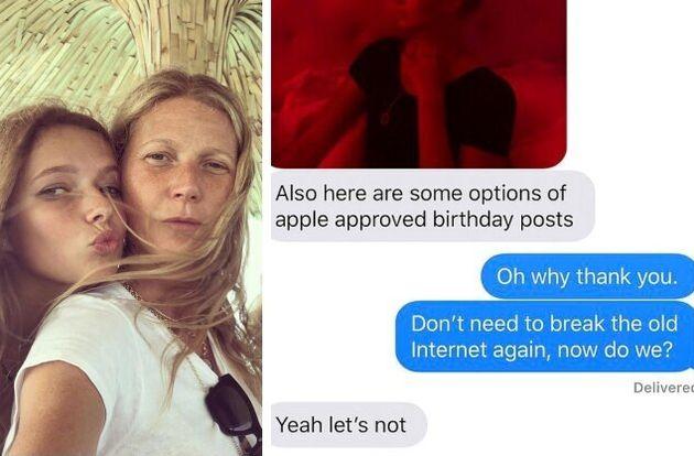Gwyneth Paltrow chiede permesso alla figlia per farle gli auguri sui