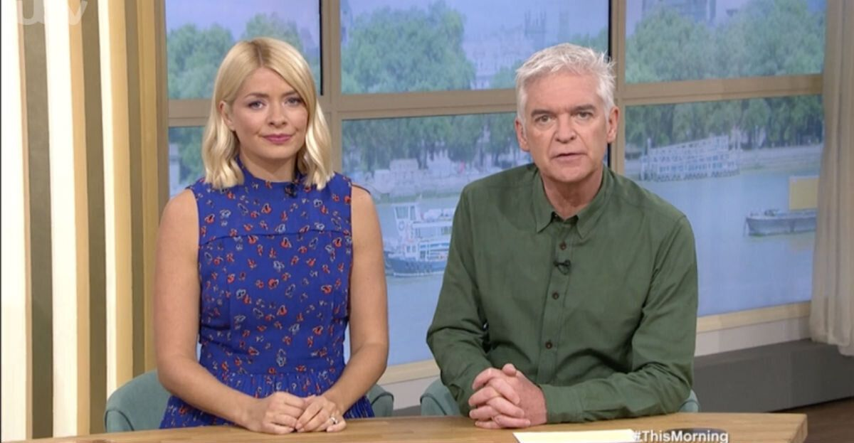 Holly Willoughby and Phillip Schofield expressed their condolences to Steven Dymond's family and to the crew of the Jeremy Kyle Show (Photo: ITV)