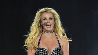 "LONDON, ENGLAND - AUGUST 24:  Britney Spears on stage during the ""Piece Of Me"" Summer Tour at the O2 Arena on August 24, 2018 in London, England.  (Photo by Gareth Cattermole/BCU18/Getty Images for BCU)"