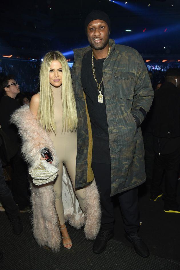 Khloe Kardashian and Lamar Odom attend Kanye West Yeezy Season 3 on Feb. 11, 2016 in New York
