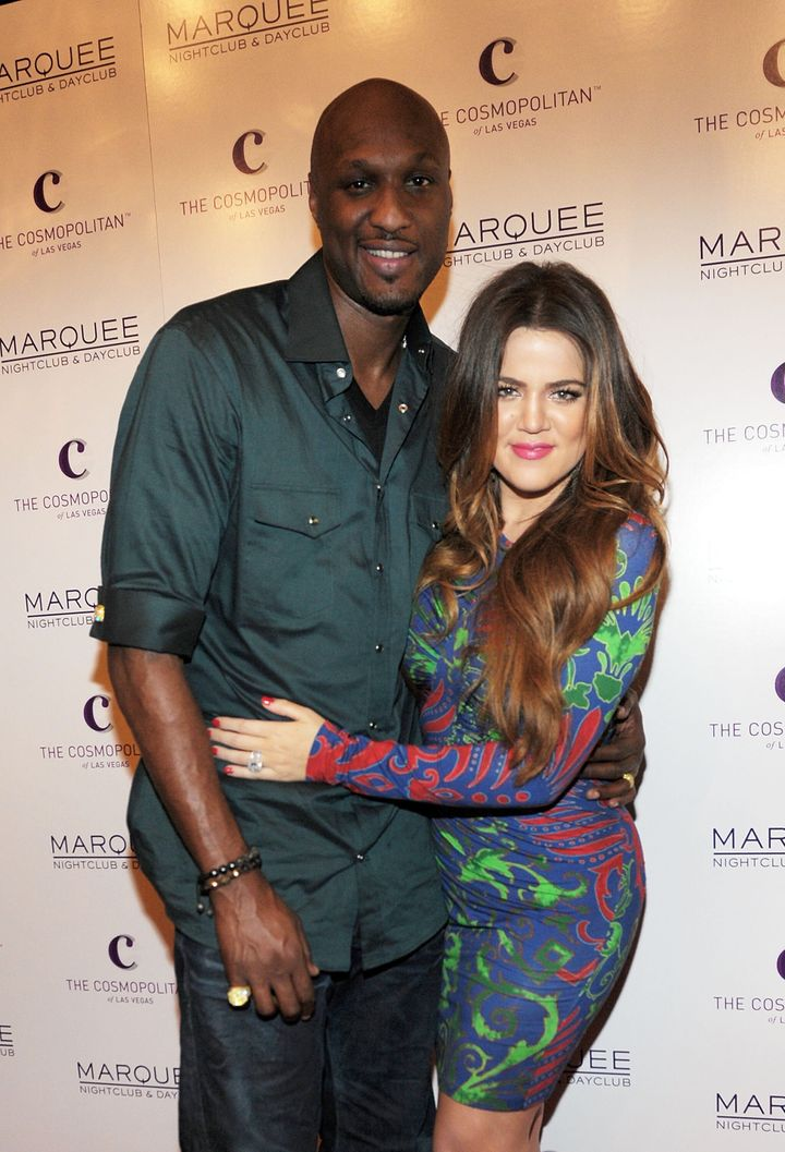 Lamar Odom and Khloe Kardashian in Las Vegas on Oct. 22, 2011.