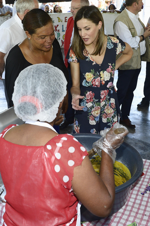 La reina Letizia, durante un viaje de cooperación a República Dominicana en mayo de