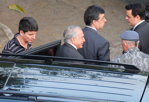 Michel Temer em 9 de maio, dia da prisão preventiva, quando se