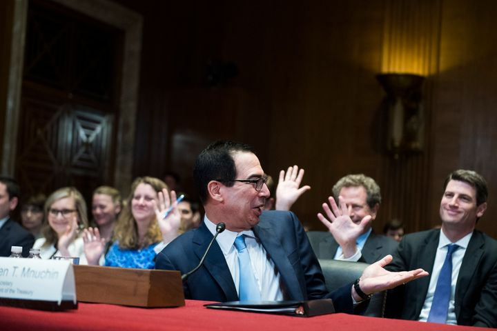 Treasury Secretary Steve Mnuchin testified before the Senate Appropriations Committee on Wednesday.