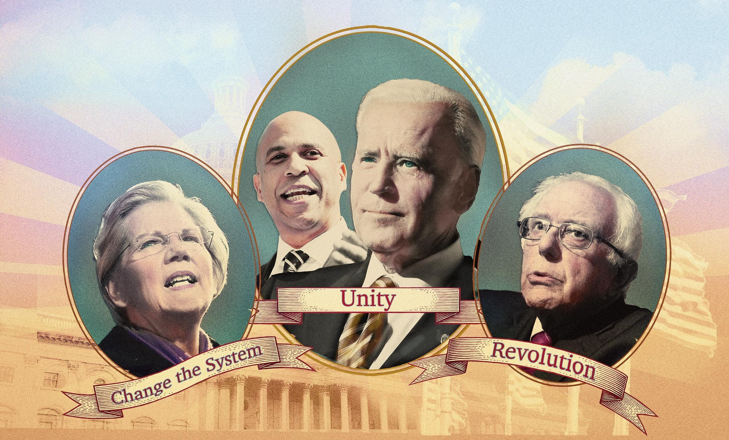 Warren the Fighter, Booker and Biden the Uniters, and Bernie the Revolutionary.
