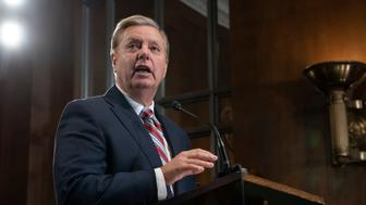 Senate Judiciary Committee Chairman Lindsey Graham, R-S.C., an ally of President Donald Trump, announces his proposal to revamp laws that affect the increase of Central American migrants seeking asylum to enter the U.S., on Capitol Hill in Washington, Wednesday, May 15, 2019. (AP Photo/J. Scott Applewhite)