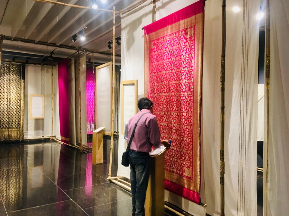 The Banarasi sari museum at the Trade Facilitation Centre and Crafts Museum in