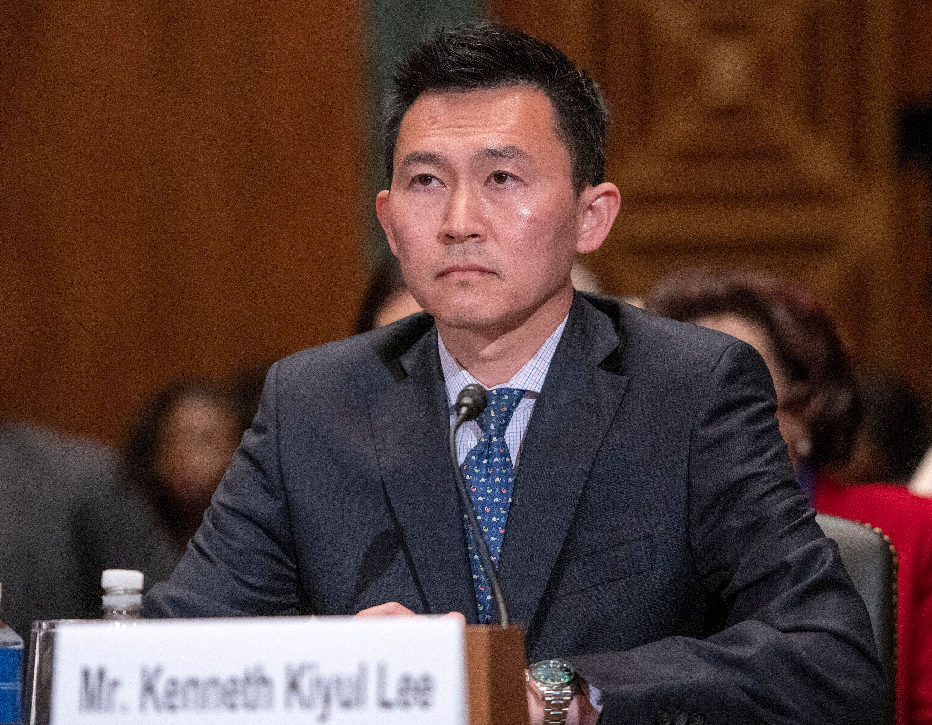 Kenneth Kiyul Lee testifies before the United States Senate Committee on the Judiciary on his nomination to be United States Circuit Judge For The Ninth Circuit on Capitol Hill in Washington, DC on Wednesday, March 13, 2019. Credit: Ron Sachs / CNP/Sipa USA
