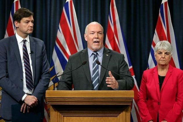B.C. Premier John Horgan announces a public inquiry into the province's money laundering problem on May...