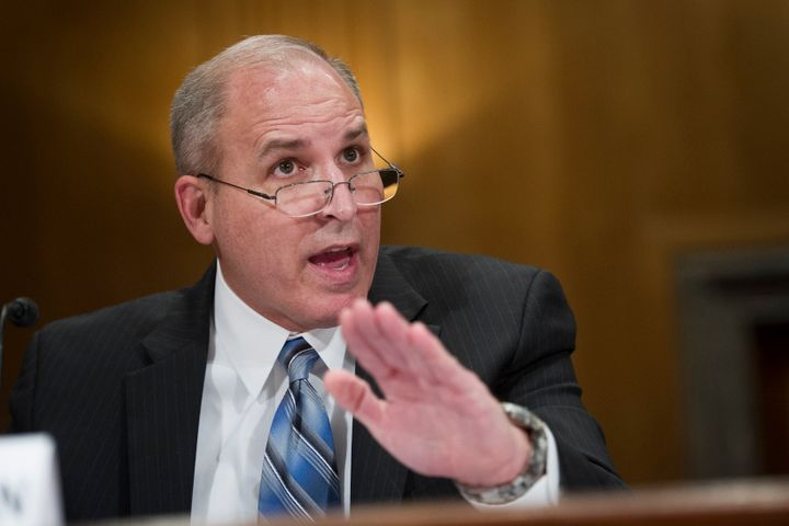 Former Border Patrol Chief Mark Morgan testifies before a congressional committee on April 4, 2019.