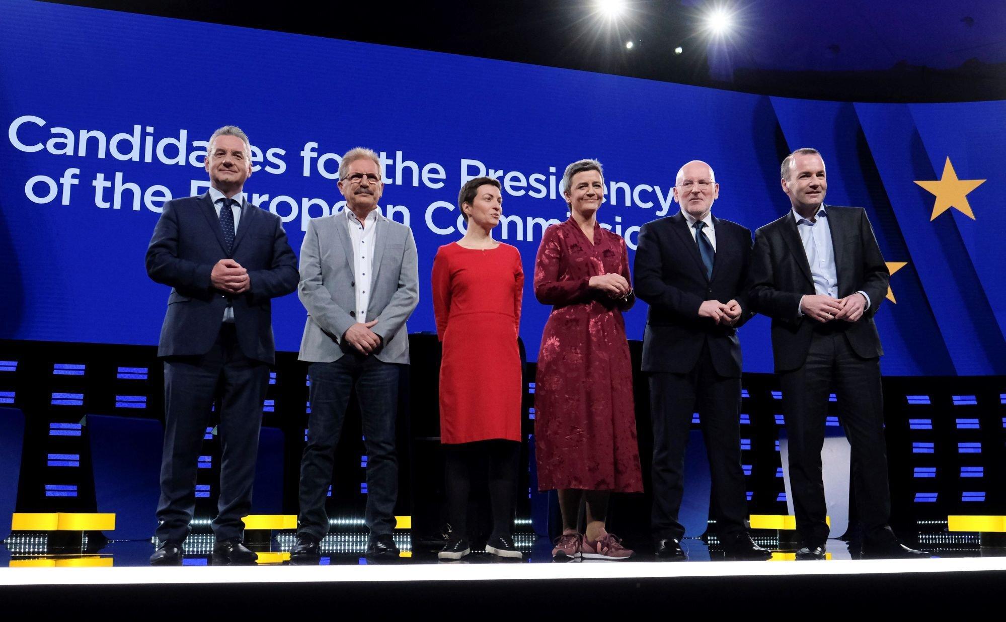 La Europa social frente a la Europa comercial: así ha sido el debate de los candidatos a la Comisión