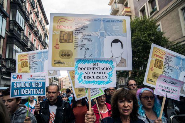 Imagen de archivo de una marcha en Madrid a favor de los derechos de las personas