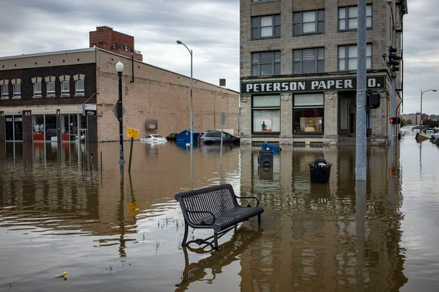 Floodwaters earlier this month in Davenport,