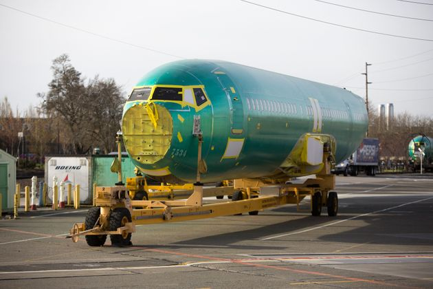 The body of a Boeing 737 MAX airplane is pictured at the Boeing Renton Factory in Renton, Washington...