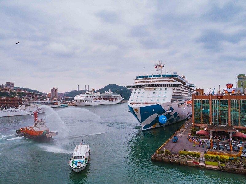 盛世公主號以基隆港為母港,航向日本、韓國,提供多樣化的行程給臺灣消費者。(圖/公主遊輪)