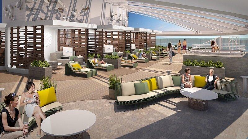 星空公主號寬敞的聖殿成人休憩區提供全新現代設計,私人小屋也比其他姊妹號多了兩倍,讓賓客可以徹底放鬆身心。(圖/公主遊輪)