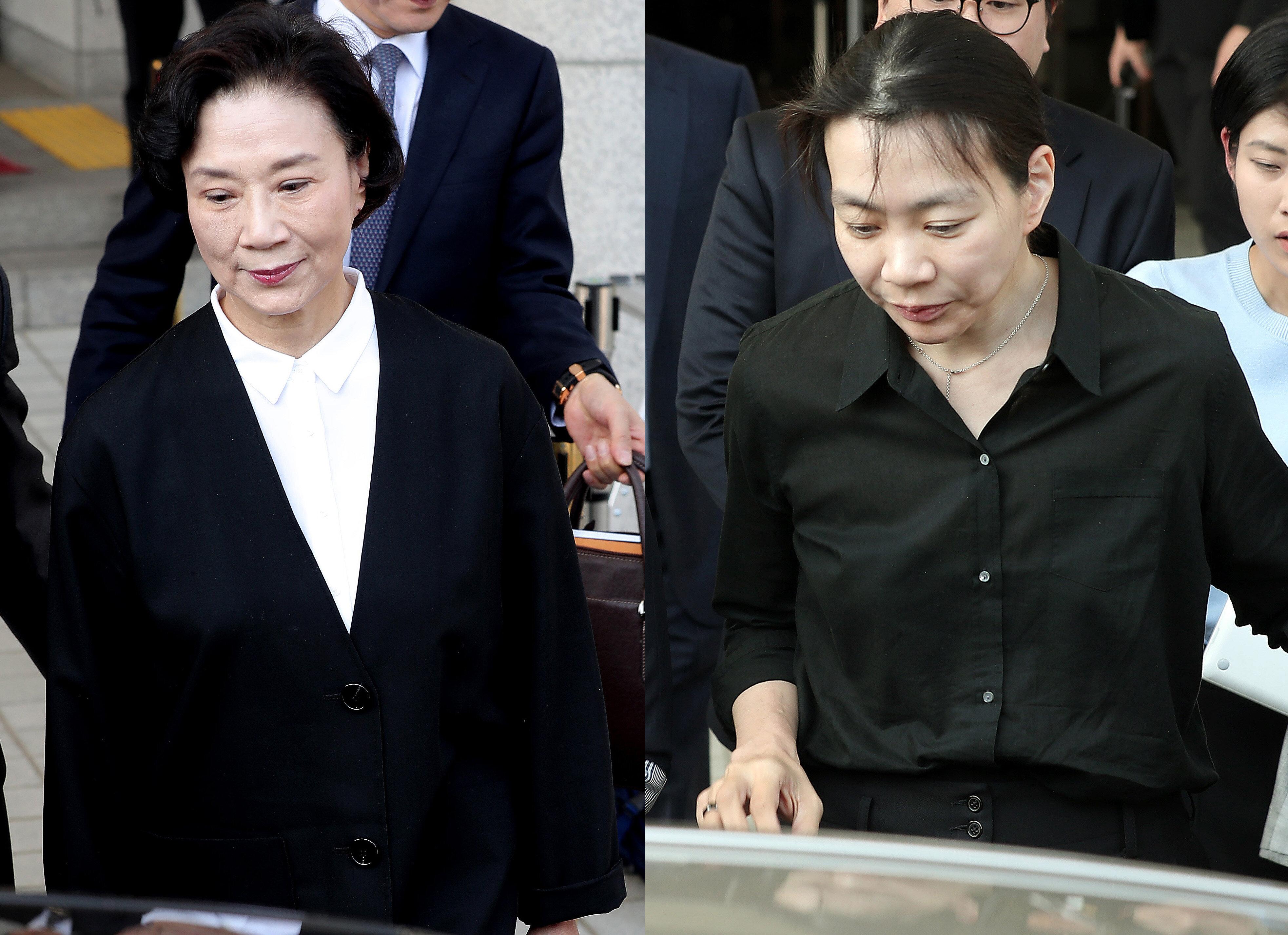 조현아·이명희 모녀가 첫 공판에서 혐의를